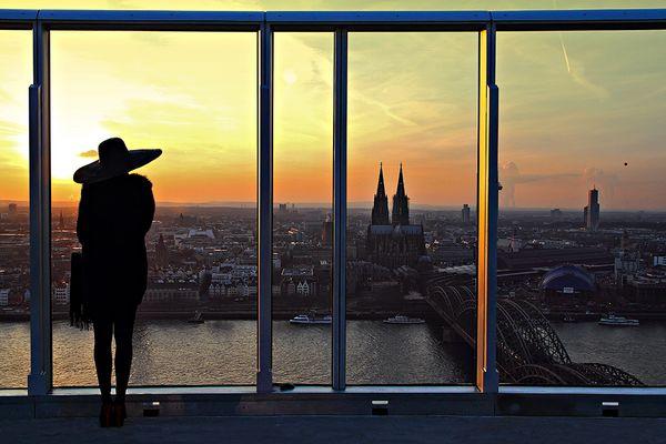 Drei Schönheiten in Köln