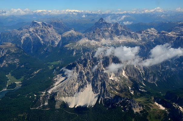 Drei Zinnen, Cadini-Spitzen, Paternkofel, Dreischusterspitze, Lago di Misurina