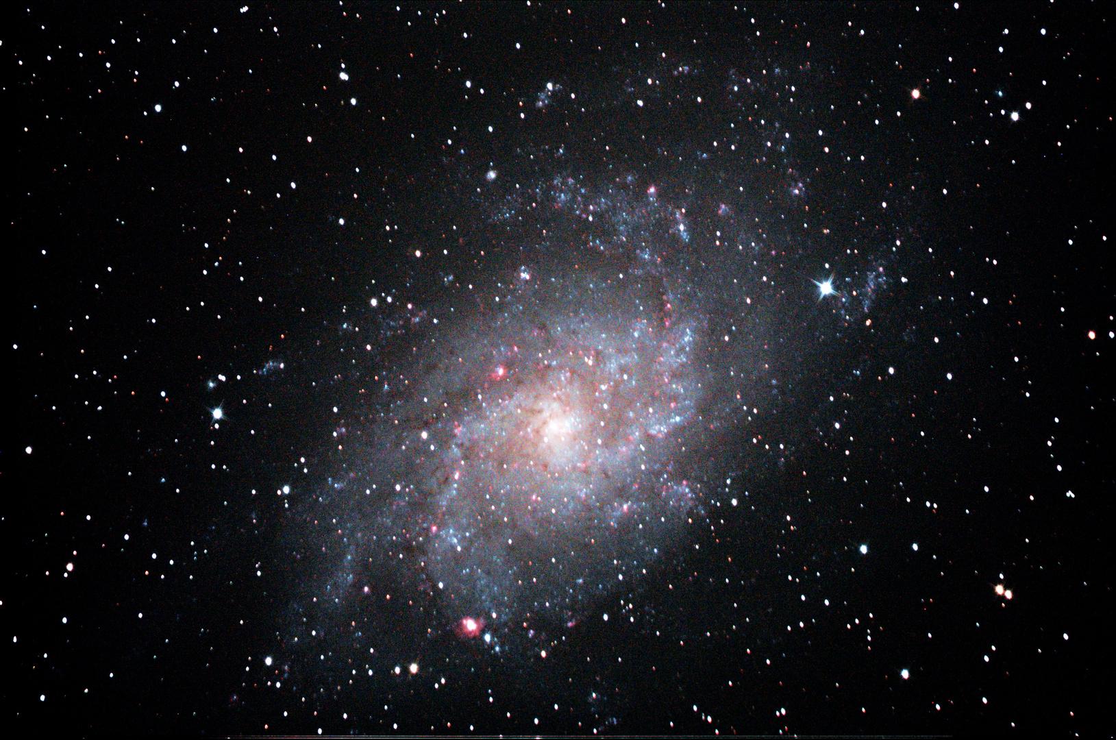 Dreiecksgalaxis M33 neu bearbeitet