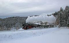 Dreikönigsdampf im Schnee