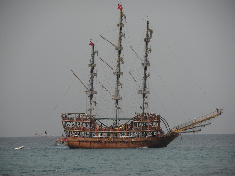 Dreimaster, Side, Türk. Riviera, Mai 2013