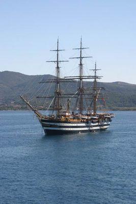 Dreimaster vor Elba