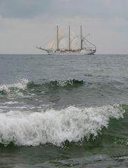 Dreimaster vor Rügens Küste