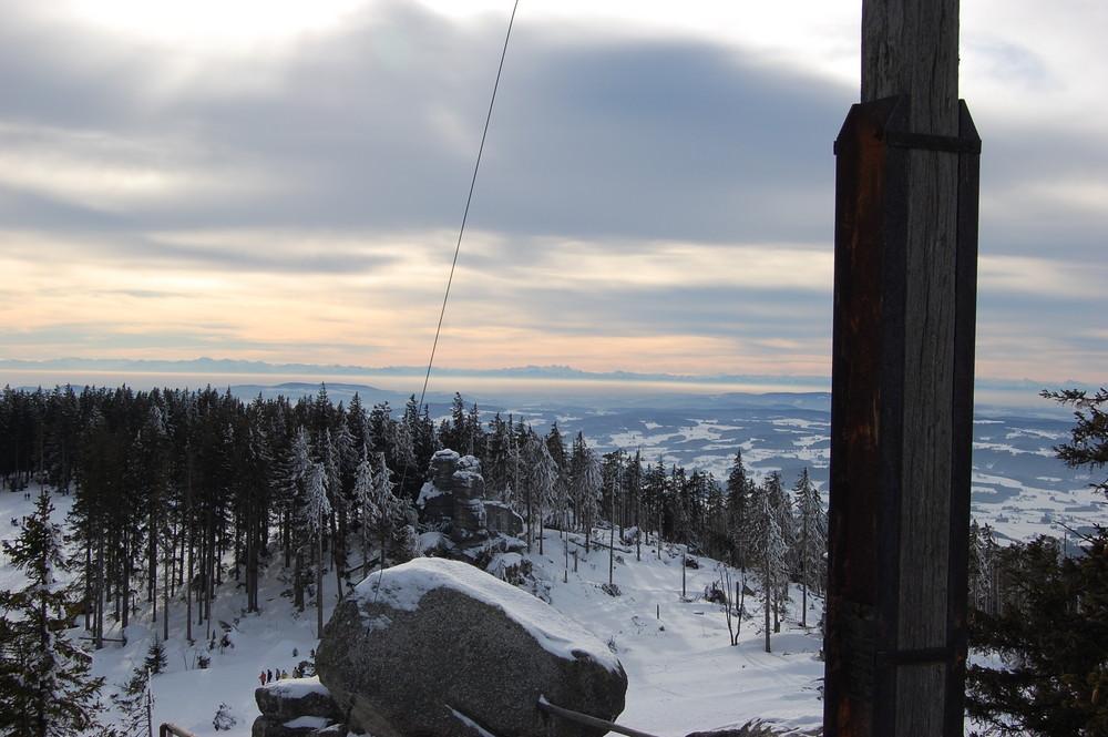Dreisessel - Blick auf Dachsteingebirge