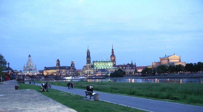 Dresden an einem Sommerabend