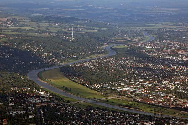 Dresden as der Luft