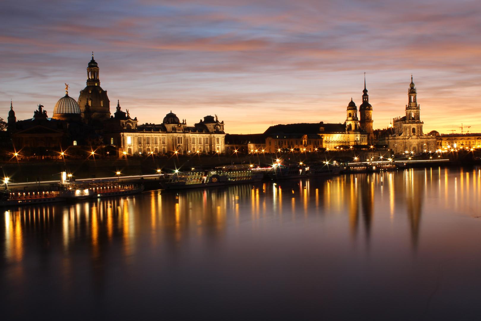 Dresden bei Abendlicht