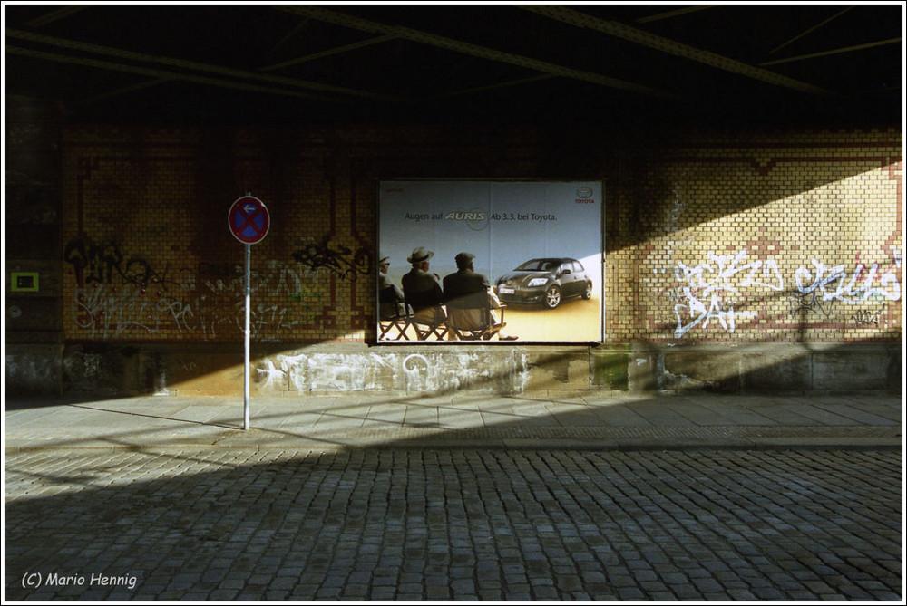 Dresden - Eisenbahnbrücke in der Neustadt