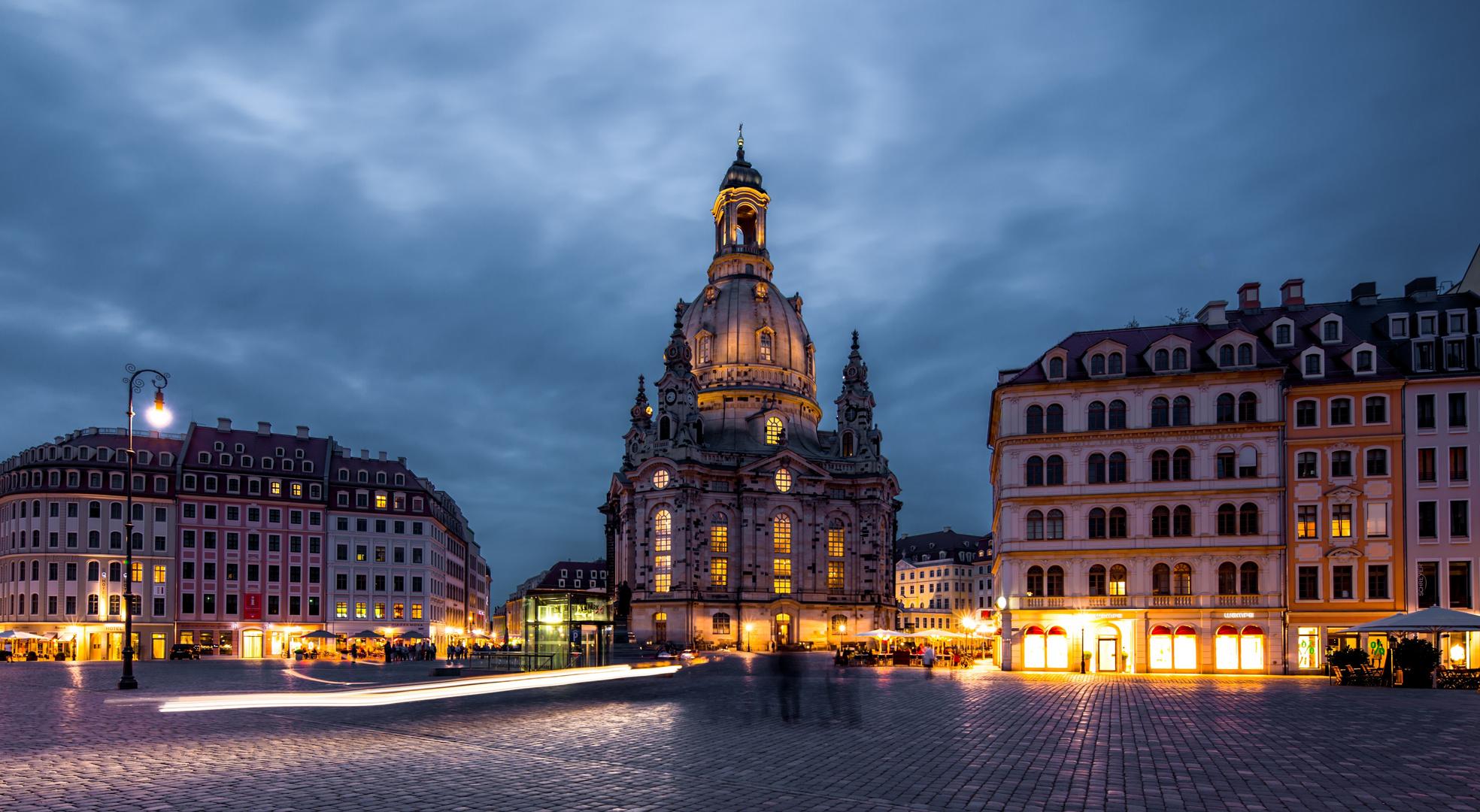 Dresden Frauenkirche, Abendstimmung