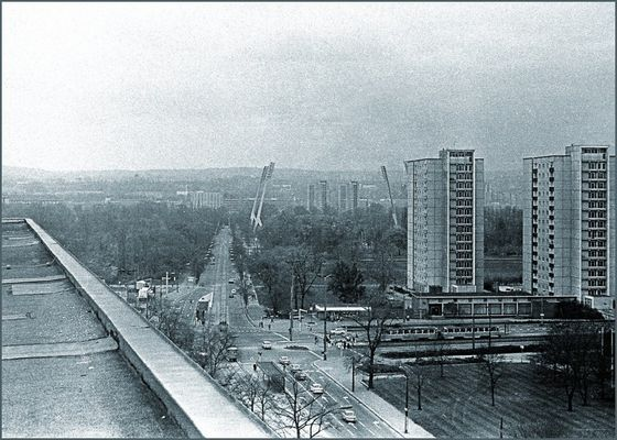 Dresden Fucikplatz Richtung Stadion