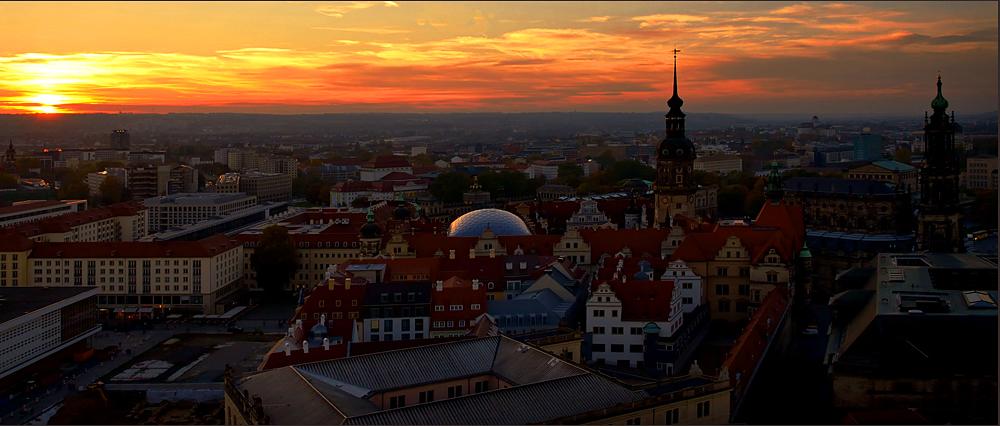 Dresden im Abendlicht