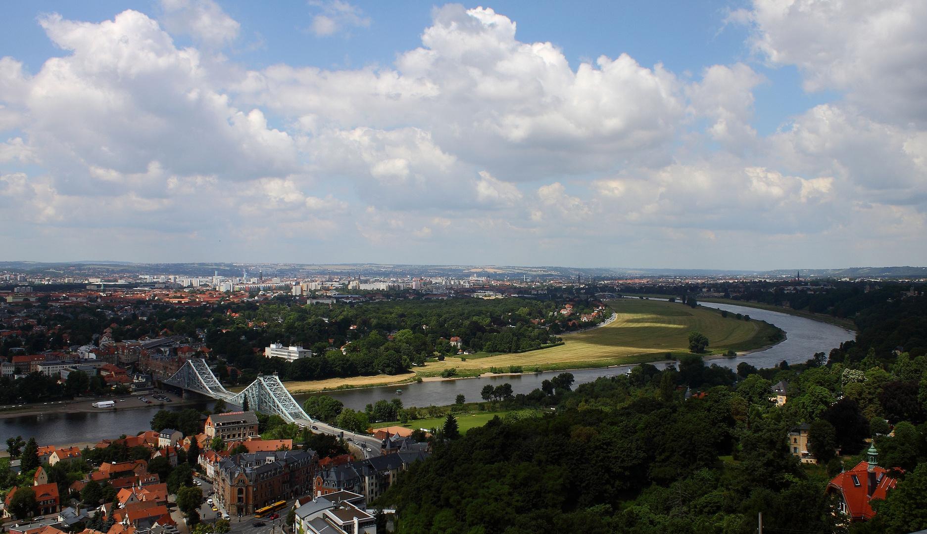 Dresden - mit blauen Wunder und der Elbe