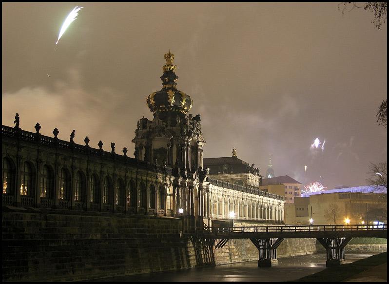 Dresden Neujahrsnacht 2004