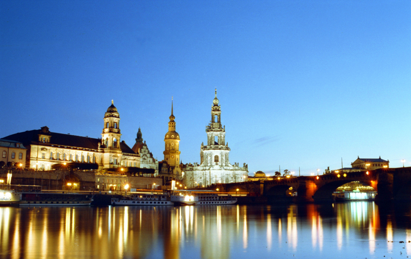 Dresden. Overview from Elba River