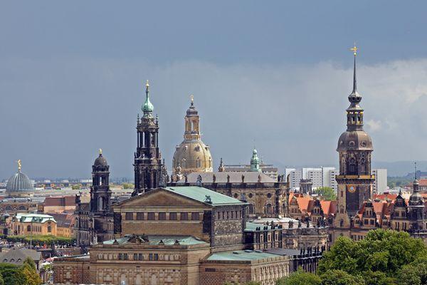 Dresden - Türme und Kuppeln