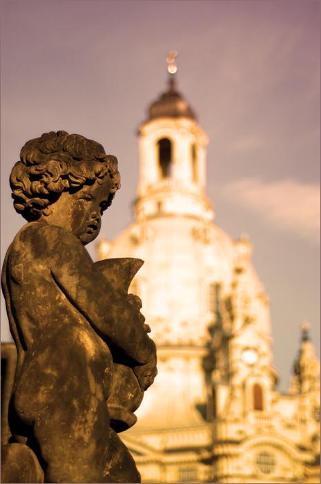 Dresden_Angel und Frauenkirche