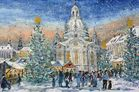 Dresdener Frauenkirche mit Weihnachtsmarkt