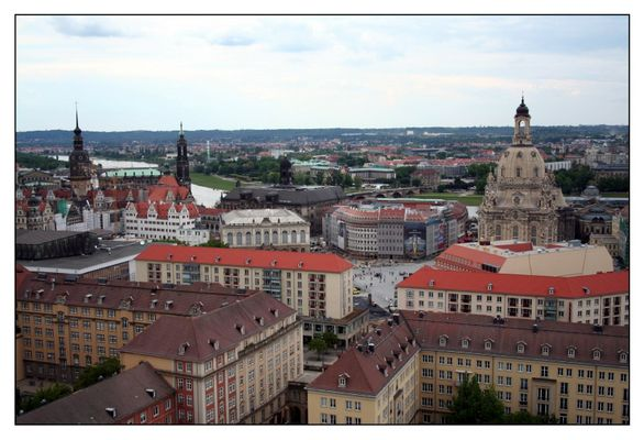 Dresdens Altstadt vom Rathausturm