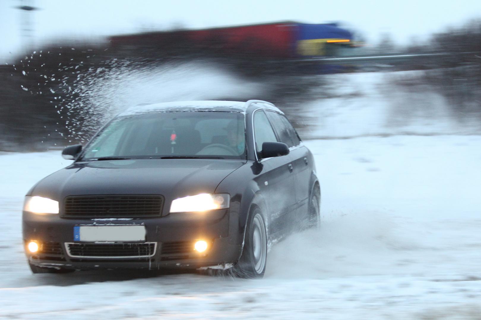 Driften im Winter - Audi