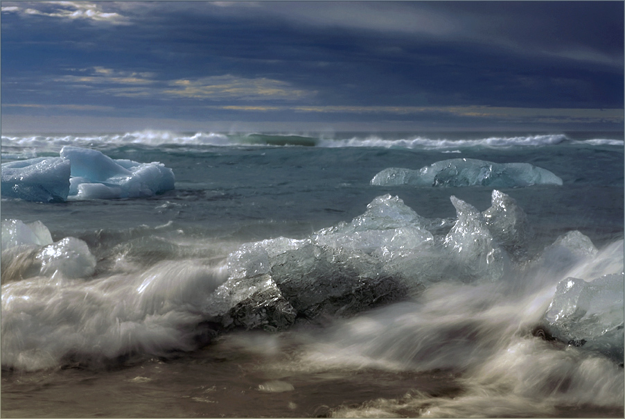 driftendes eis im nordmeer