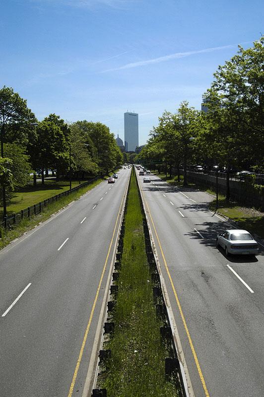 Driving into Boston