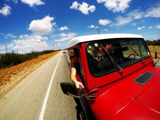 driving through la isla de margarita, VZ