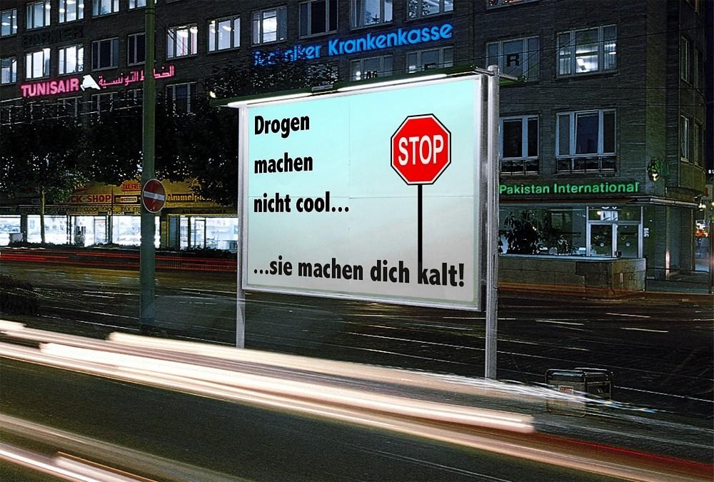 Drogen machen nicht cool...