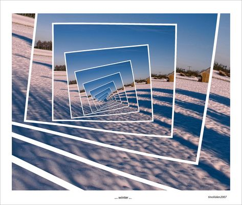 droste effect - winter - alfdorf - south of germany -