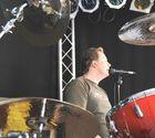 Drummer singing