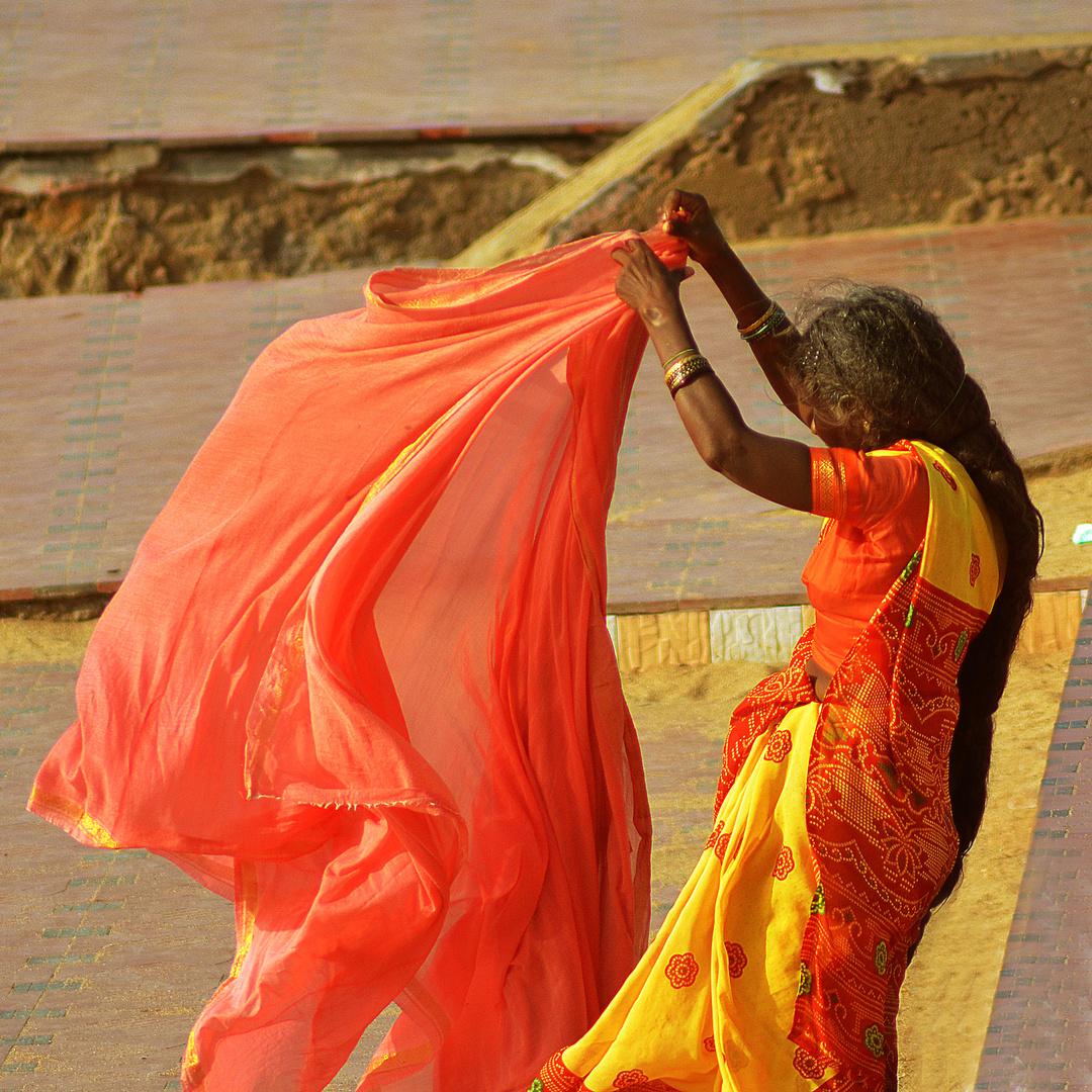 Drying Saree