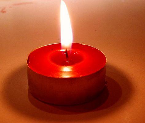 Du bist eine Kerze.