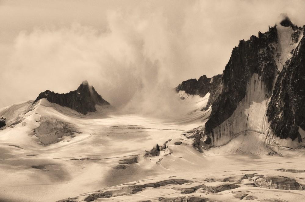 du côté du mont blanc; traversée de la vallée blanche