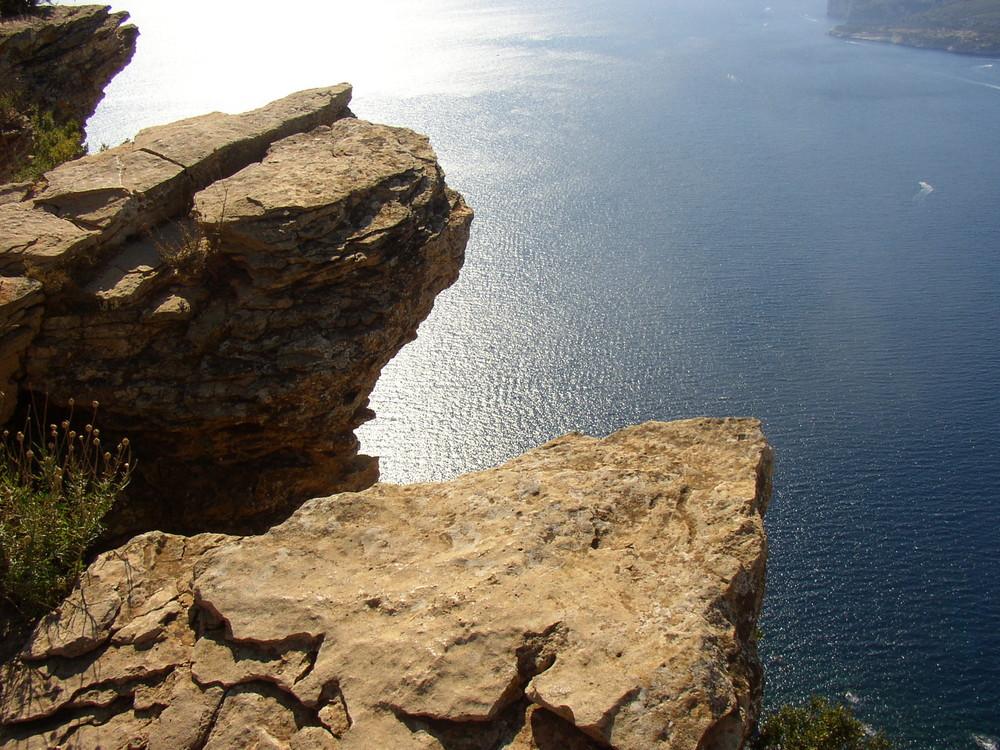Du haut de la falaise de Cassis