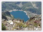 Du sommet du Pic de Hourgade 2964m, vue sur Lac de Caillauas 2158 m.