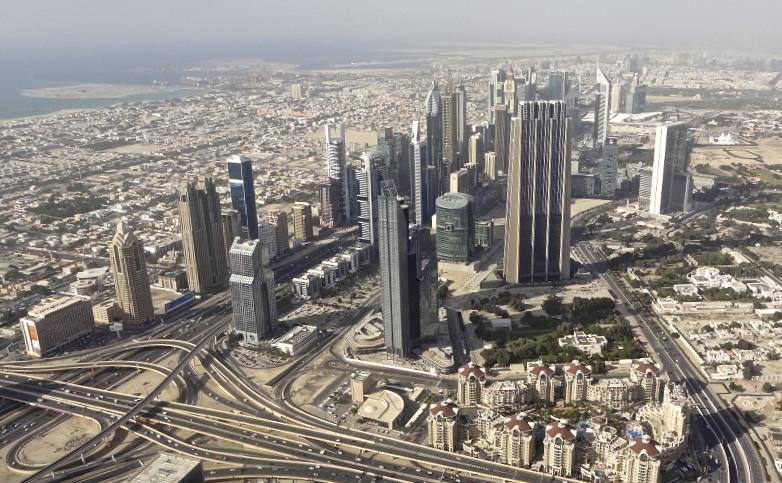 Dubai: Blick vom 124 Stock.