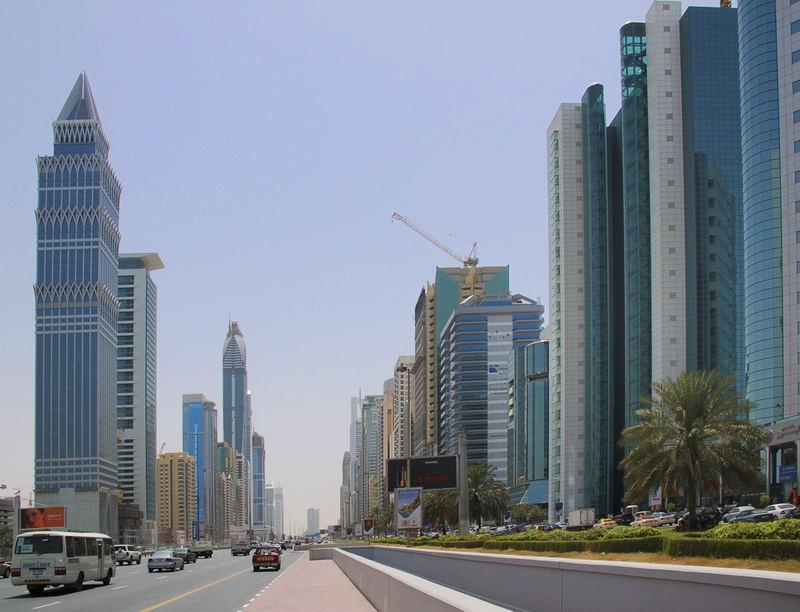 Dubai City - Strasse des Geldes