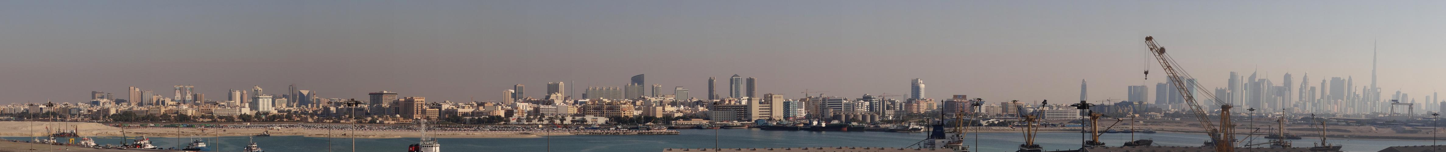 Dubai - vom Hafen ausgesehen