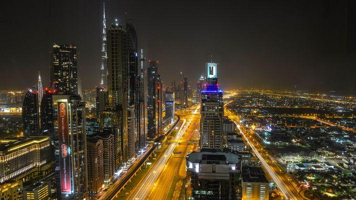 Dubai vom Hotelzimmer aus