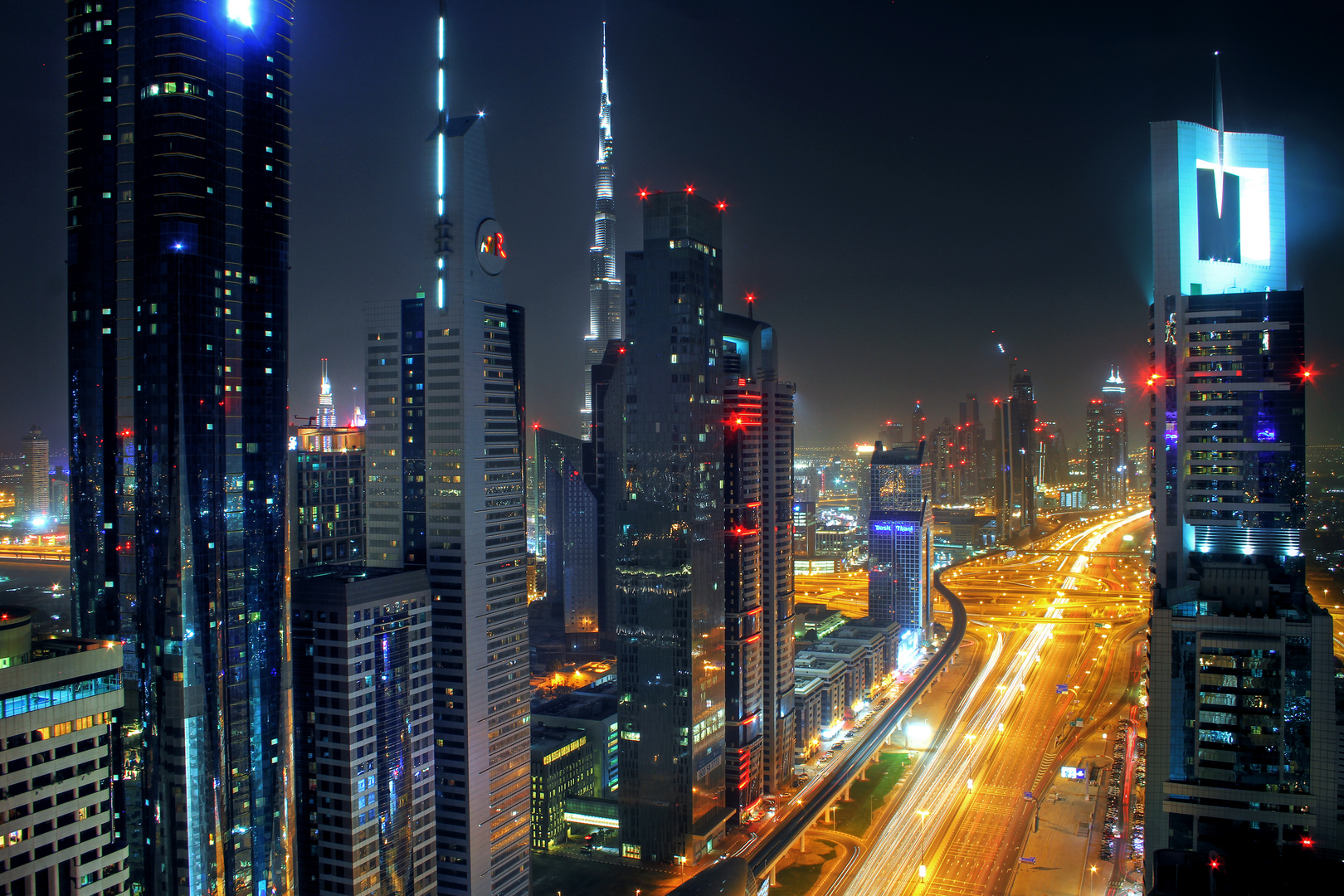 Dubai's Sheik Zayed Road and Towers in 2013