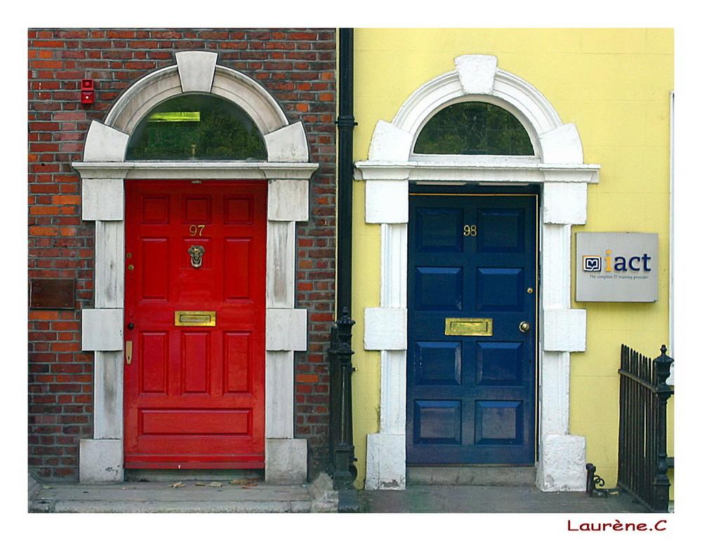 Dublin et son arc-en-portes !