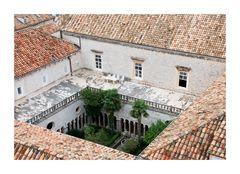 Dubrovnik Sitzgelegenheit Arkadengang