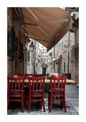 Dubrovnik Sitzgelegenheit Strasse