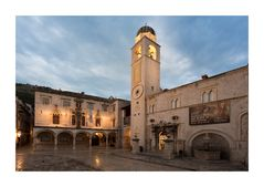 Dubrovnik Sponza Palace and Clocktower