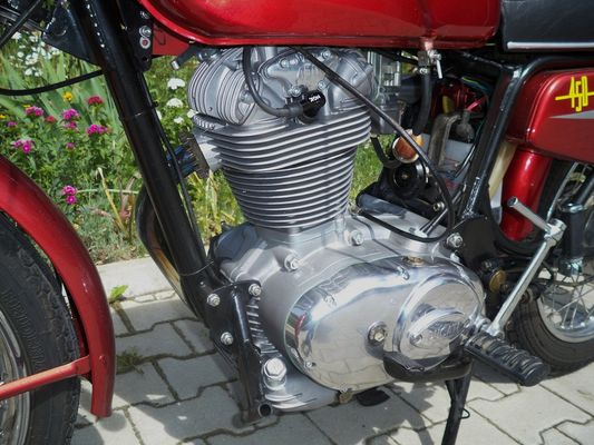 Ducati 450; Motor von links