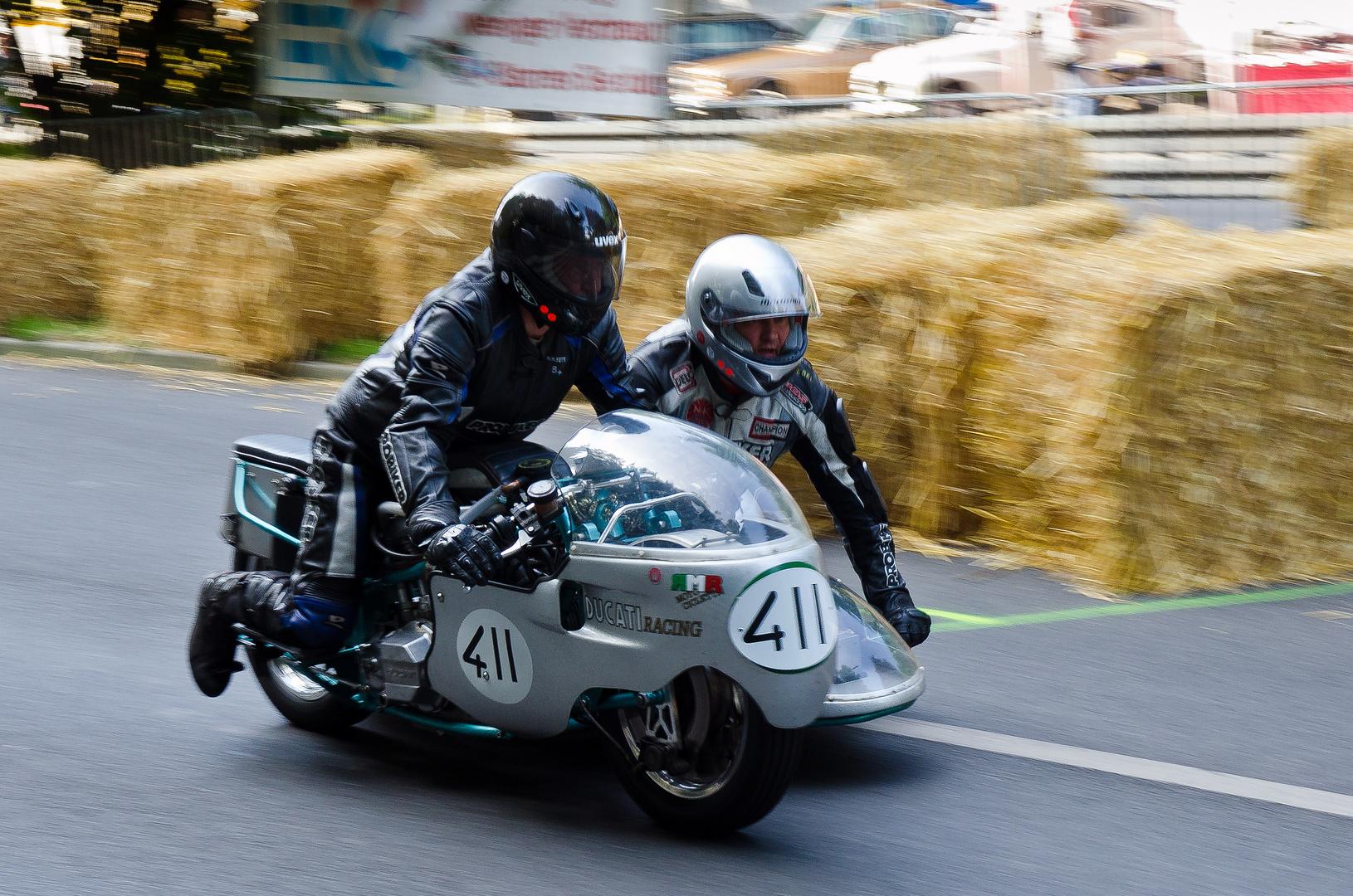 Ducati EB Kneeler Gespann - Hamburger Stadtpark-Revival 2013