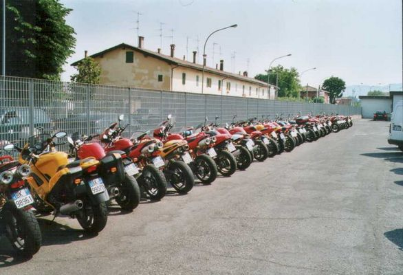 Ducati parking only, all others will be towed away!