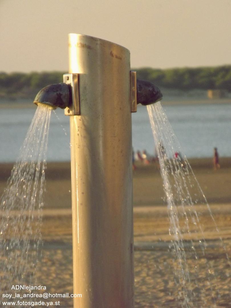 ducha de playa