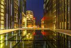 Düsseldorf, Hotel Hyatt zur späten blauen Stunde