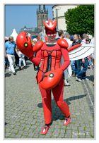 Düsseldorf - Japan-Fest 2014 - ein lachender Harlekin