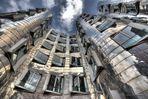 Duesseldorf Medienhafen - HDR - Frank Gehry-Architektur